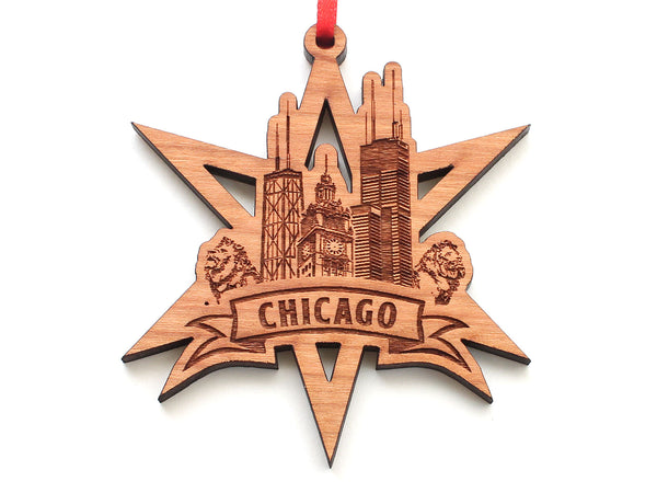 Chicago Star Tourist Snowflake Ornament
