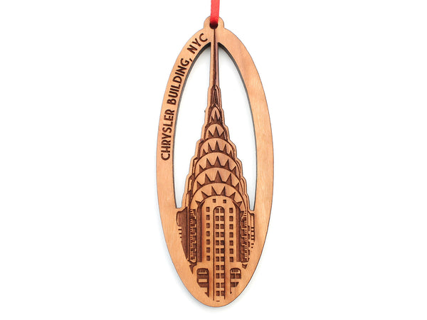 New York City Chrysler Building Oval Ornament