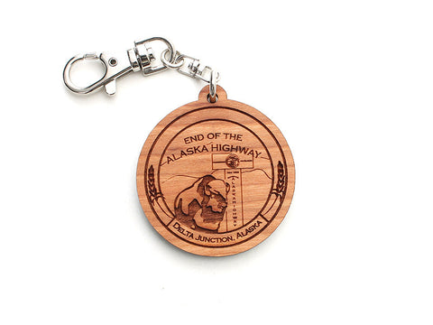 Smiling Moose Circle Marker Key Chain - Nestled Pines