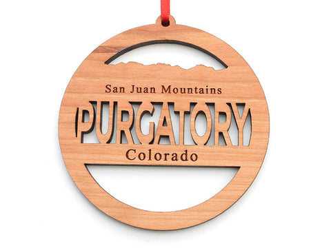 Purgatory Circle Text Ornament