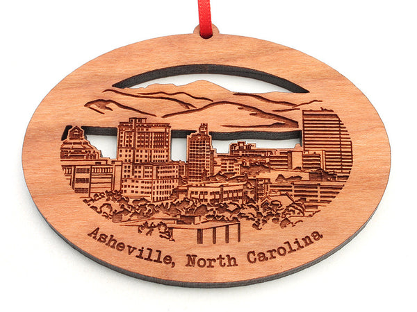 Asheville North Carolina City Skyline Ornament