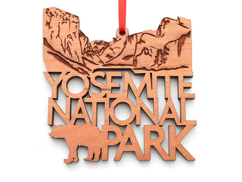 Yosemite NP Cliffs Text Ornament - Nestled Pines
