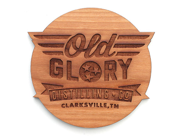 Old Glory Distilling Logo Oval Coaster Set of 4
