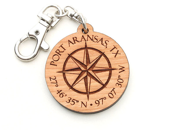 Lone Star Taste Compass Rose Key Chain