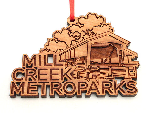 Mill Creek Covered Bridge Custom Text Ornament
