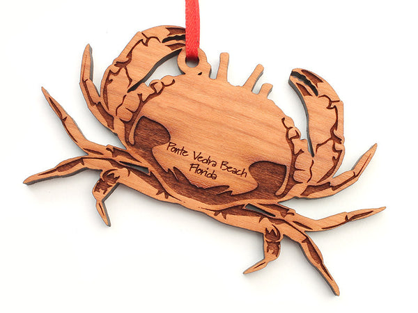 Ponte Vedra Beach Florida Crab Custom Ornament - Nestled Pines