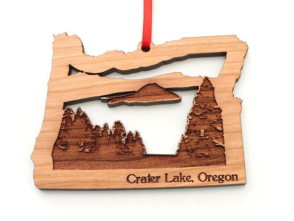 Shady Cove Pharmacy Oregon State Shape Crater Lake Insert Ornament