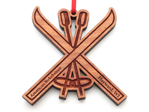 Birkie Ski and Poles Ornament