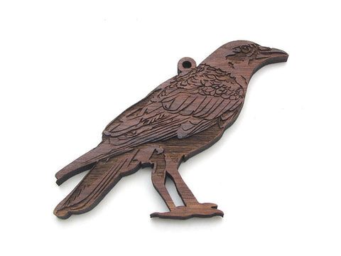 American Crow Ornament - Nestled Pines