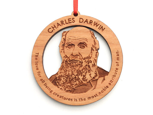 Charles Darwin Ornament - Nestled Pines