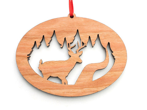 Northwoods Deer Ornament Alt - Nestled Pines