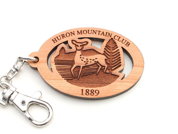 Huron Mountain Club Deer Key Chain