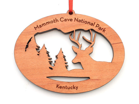 Mammoth Cave NW Deer Ornament - Nestled Pines