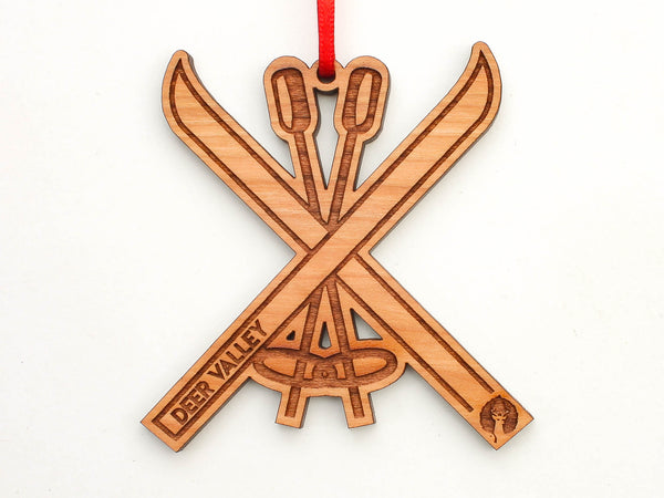 Deer Valley Ski X Logo Ornament