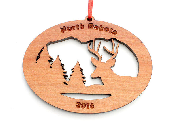 Northwoods Deer Ornament - Nestled Pines