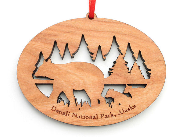 Denali Bear NW Ornament ND - Nestled Pines