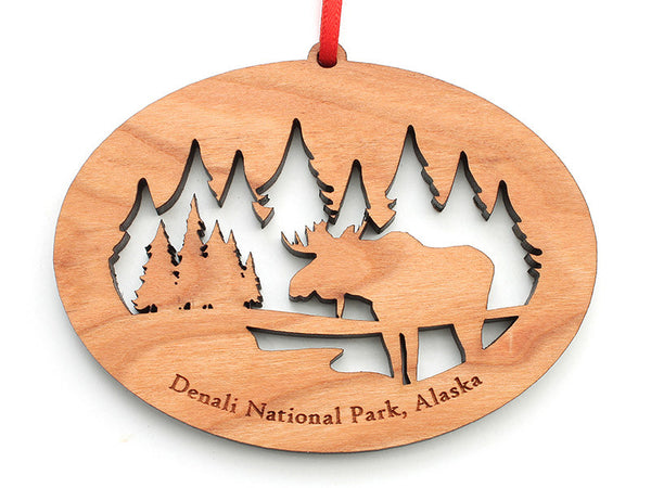 Denali Moose NW Ornament - Nestled Pines