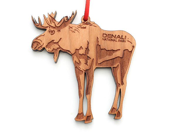 Denali Moose Ornament - Nestled Pines