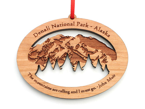 Denali Mountains Ornament - Nestled Pines