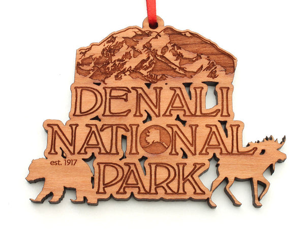 Denali Text Ornament