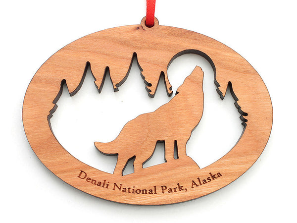 Denali Wolf NW Ornament - Nestled Pines