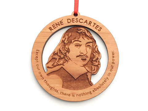 René Descartes Ornament - Nestled Pines
