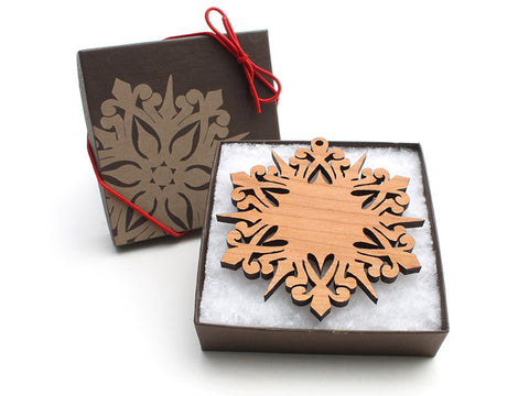 HOM Custom Snowflake Ornament - Nestled Pines - 1