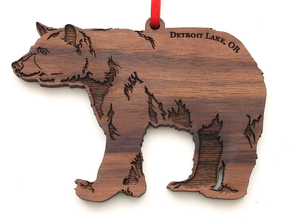 Detroit Lake Black Bear Ornament