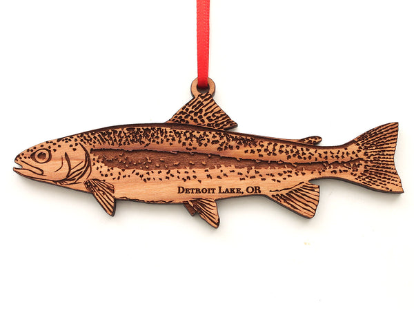 Detroit Lake Rainbow Trout Ornament