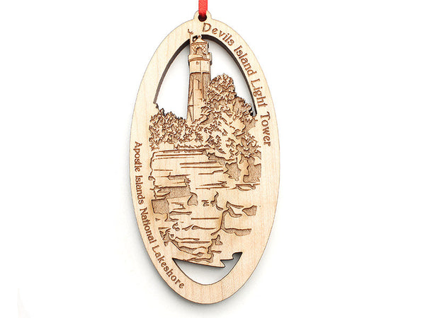 Apostle Island NLS Devils Island Light Tower Ornament - Nestled Pines
