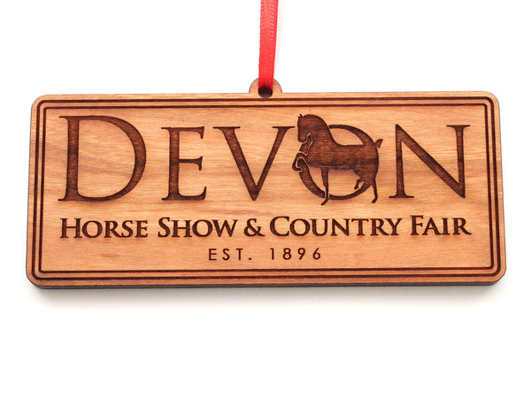 Devon Horse Show Logo Ornament