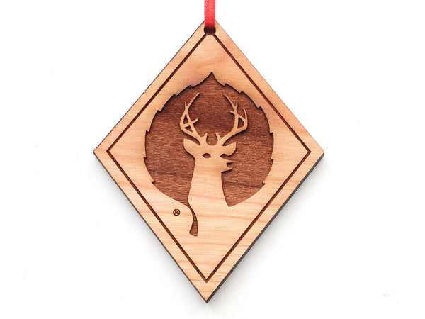 Black Diamond Deer Valley Logo Engraved Ornament
