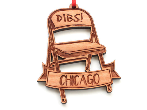Dibs Chicago No Parking Folding Chair Ornament