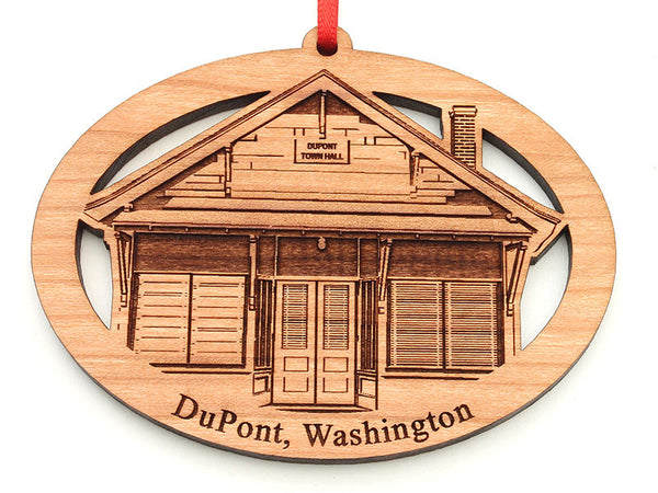 DuPont Town Hall Custom Oval Ornament