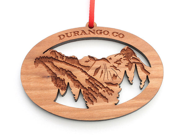 Durango Mountain View Custom Ornament - Nestled Pines