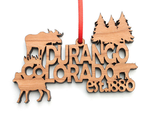 Durango Text Ornament Trees - Nestled Pines