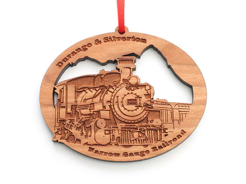 Durango & Silverton Custom Train Engine Ornament - Nestled Pines