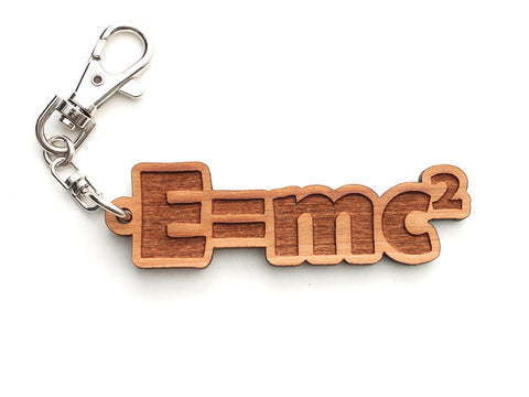 E = mc² Key Chain - Nestled Pines