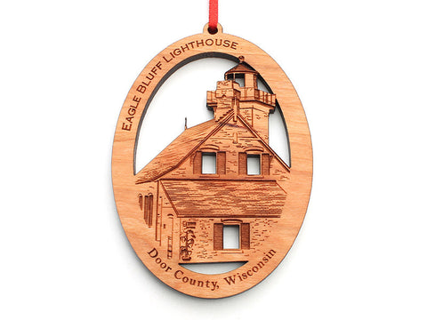 Eagle Bluff Lighthouse Ornament - Nestled Pines