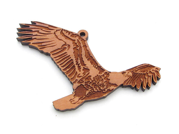 Soaring Bald Eagle Ornament - Nestled Pines