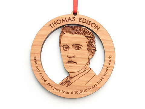 Thomas Edison Ornament - Nestled Pines