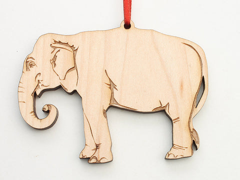 Asian Elephant Ornament - Nestled Pines