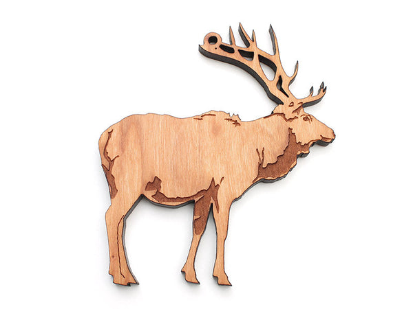 Elk Ornament B - Nestled Pines