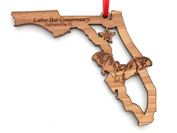 Lubee Bat Conservatory Florida State Brown Bat Insert Custom Ornament