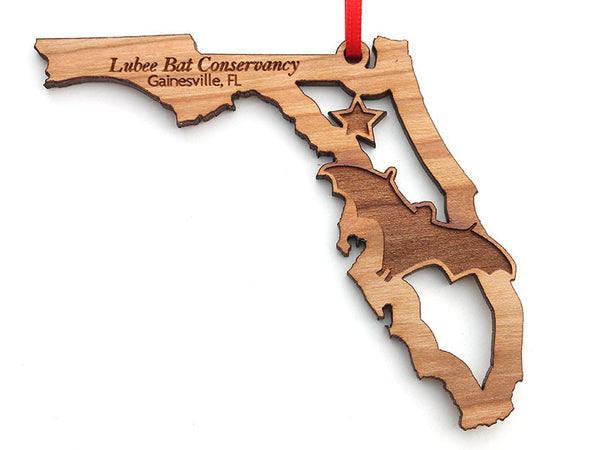 Lubee Bat Conservatory Florida State Bat Insert Custom Ornament