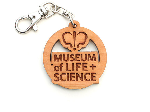 Museum of Life & Science Custom Key Chain - Nestled Pines