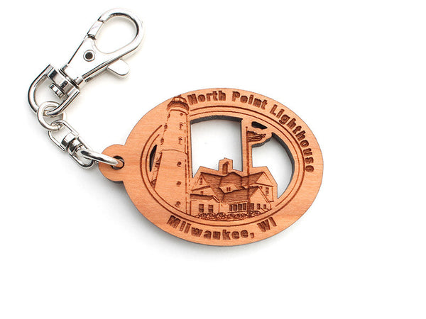 North Point Lighthouse Custom Key Chain - Nestled Pines