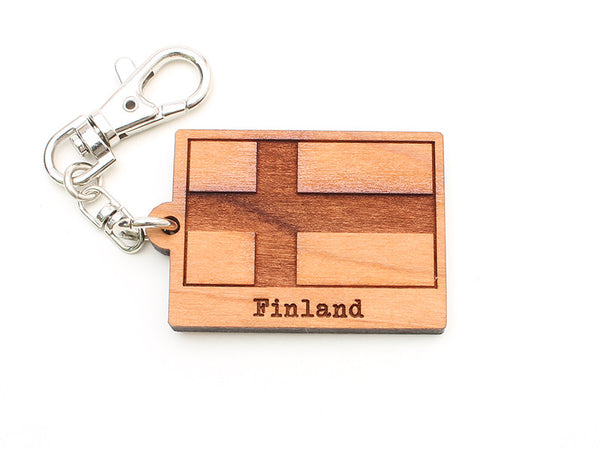 Touch of Finland Flag Key Chain
