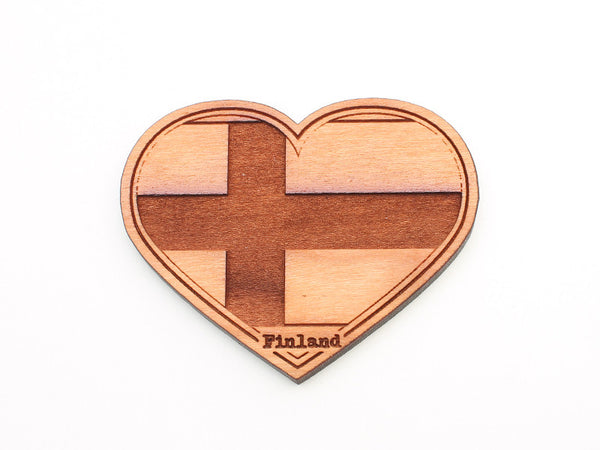Touch of Finland Flag Heart Magnet