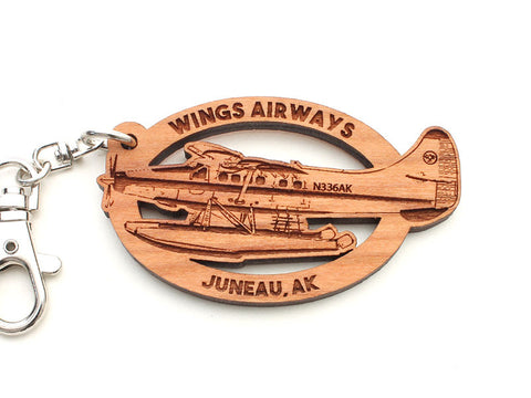 Wings Airways Alaska Float Plane Key Chain